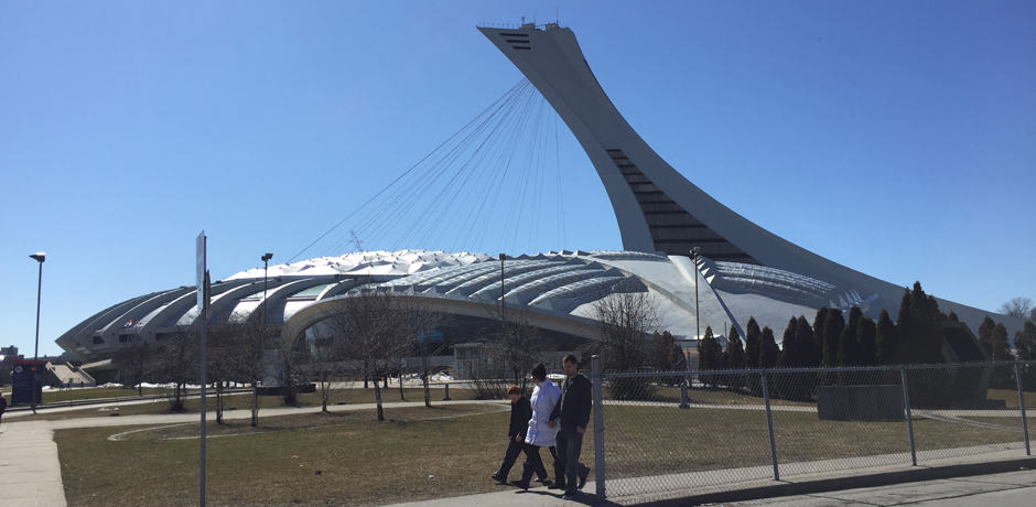 The iconic Olympic Stadium featuring the most diagonally inclined tower in the world