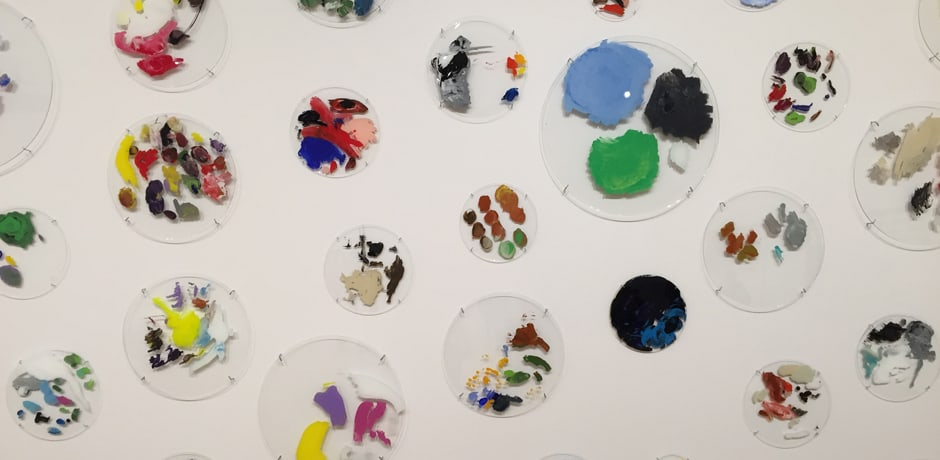 A painting installation by Ryan Gander at the Contemporary Arts Museum