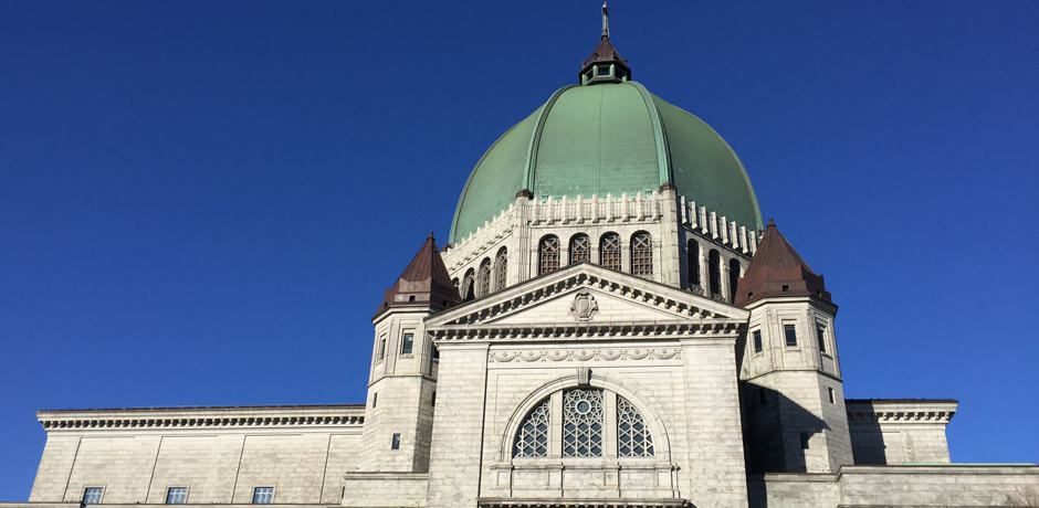 The dome of Saint Joseph's Cathedral on Mont Royal