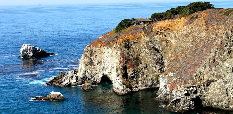 Scenery along California's scenic Highway 1 drive