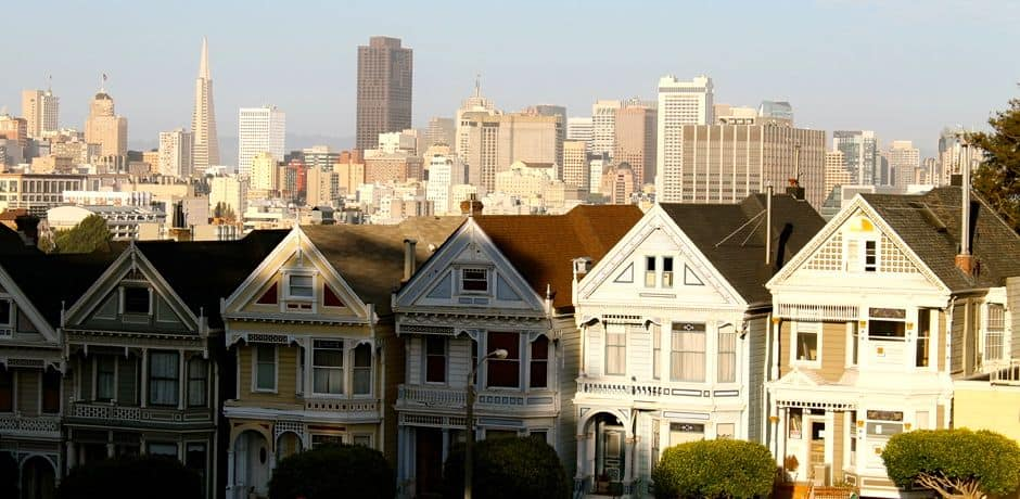 The Painted Ladies, most famous for being used as the facade of the house on the show Full House