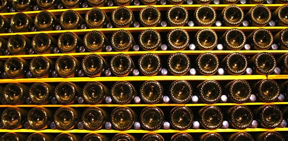 Schramesberg vineyard is unique in producing all Pinot Noir- and Chardonnay-based sparkling wines. The caves here are unlike any others with stacks of bottles lining the walls instead of wine barrels.