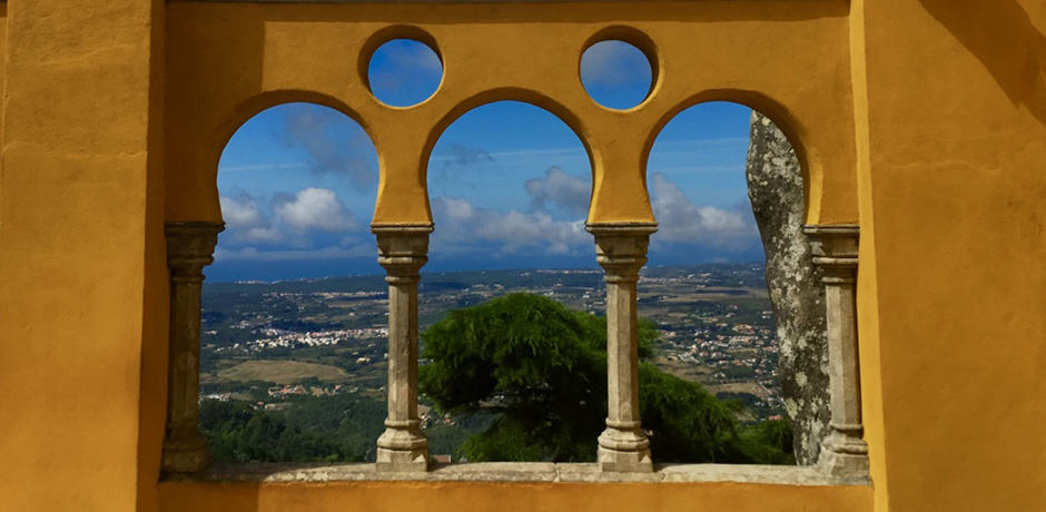 A beautiful view from Sintra's hilltop Pena National Palace, just an hour from Lisbon