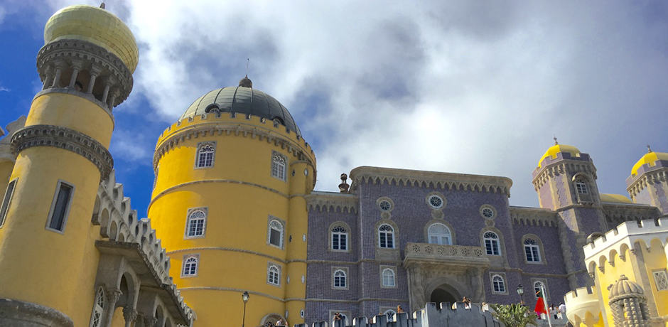 A UNESCO World Heritage Site, the Pena Palace has a whimsical look that exemplifies the 19th-century Romanticism style of architecture