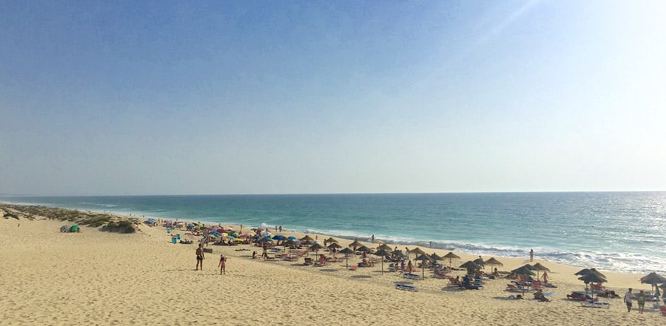 Carvahal Beach, near Comporta, is popular with locals and visitors alike
