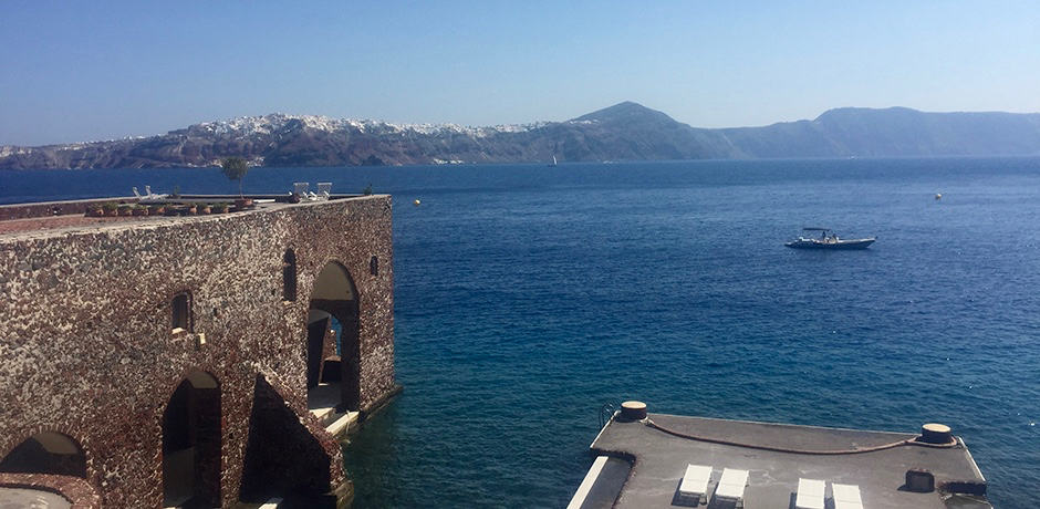 The view from the villa.