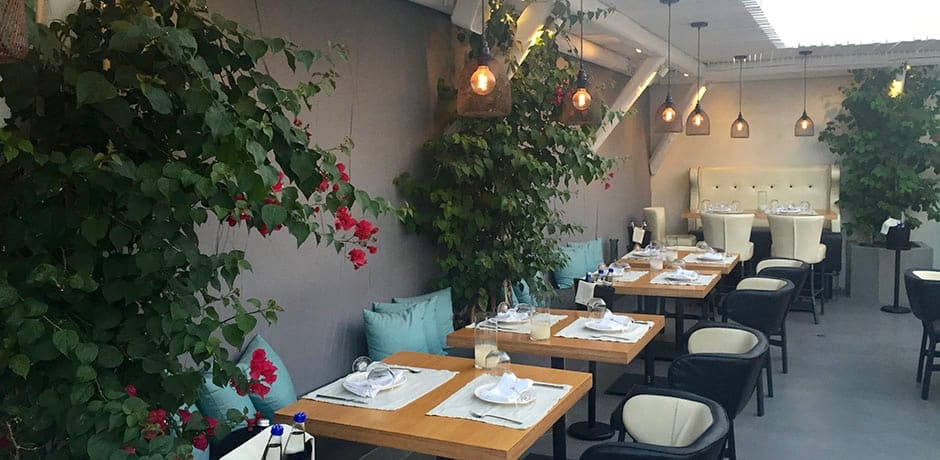 The alfresco dining area at Catch Bar Restaurant, which opened in 2015 and is a stylish hot spot for foodies.