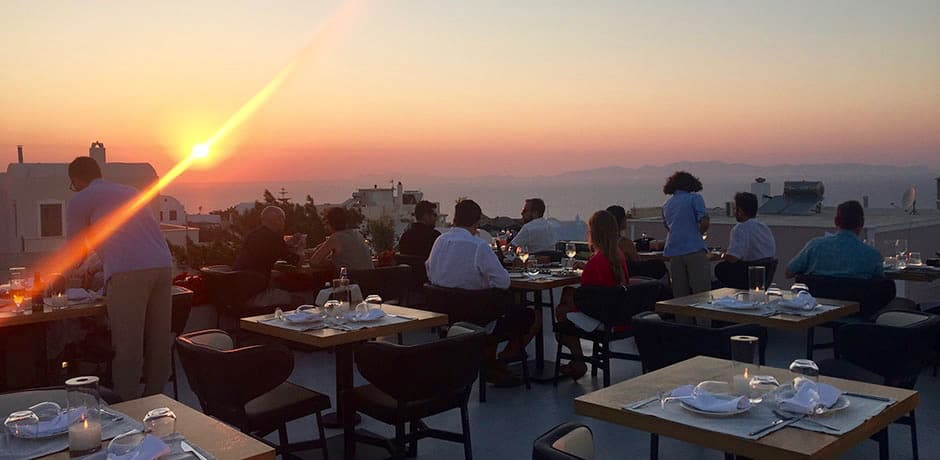 The view from the roof at Catch Bar Restaurant.