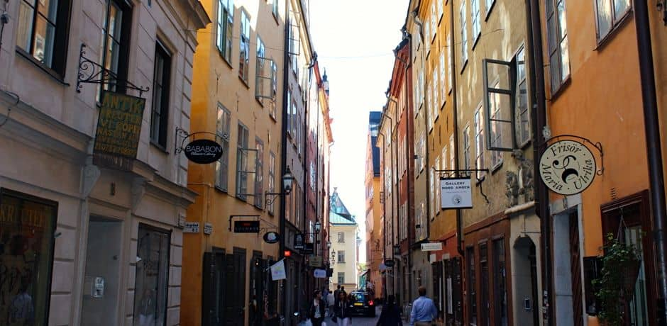 Charming streets of Gamla Stan, Stockholm's Old Town