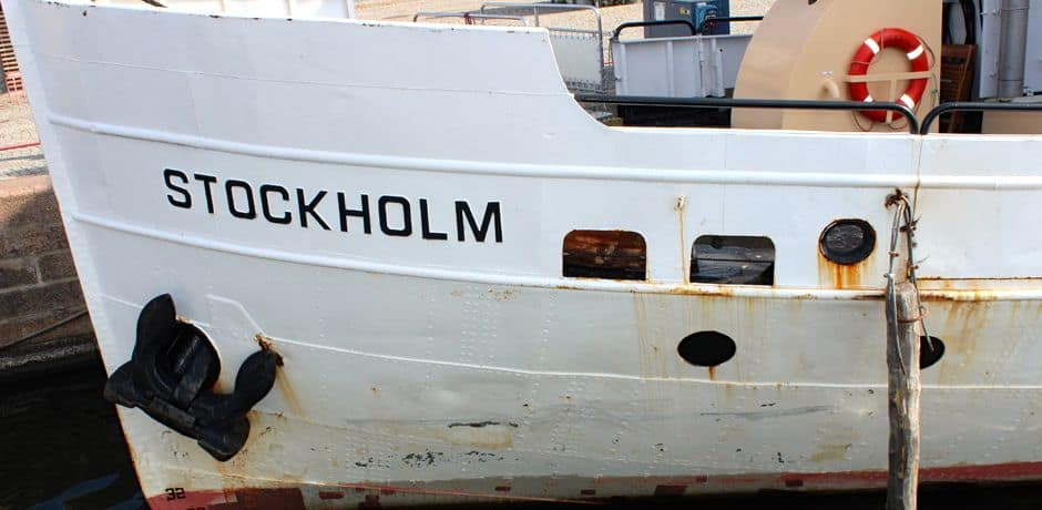 One of Stockhom's many ferries