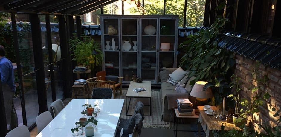 Ett Hem's outdoor garden, the perfect place to enjoy a Fika