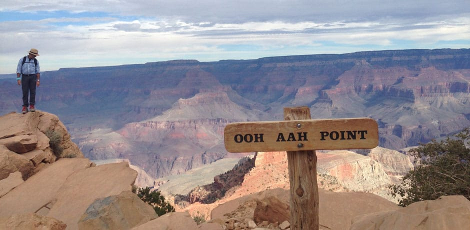 A vista point along the South Kaibab Trail in the Grand Canyon. Courtesy Indagare.