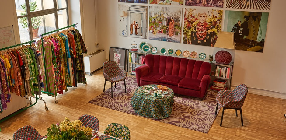 The showroom of designer and Milan Insider J.J. Martin is a must-visit for bright patterns and unique homewares. Photo courtesy Christian Michele Nichelanti.