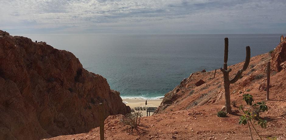 Cabo's red coastline