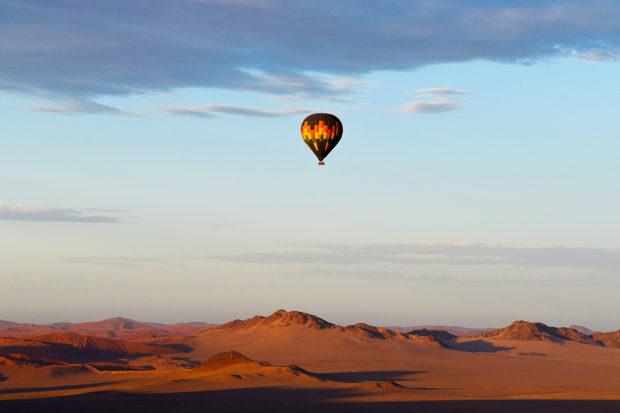 A sunset hot balloon ride