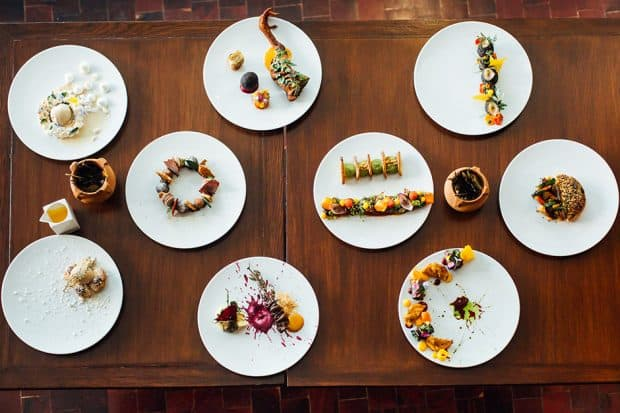 Specialty dishes at Ona Restaurant in La Paz Bolivia