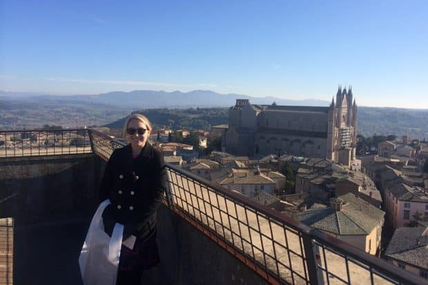 In front of the Orvieto Cathedral,