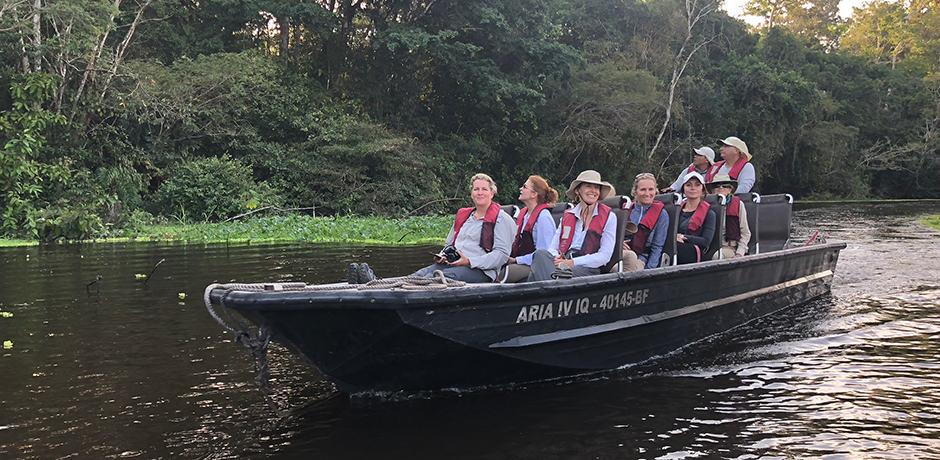 The Insider Journey members during an excursion on the river