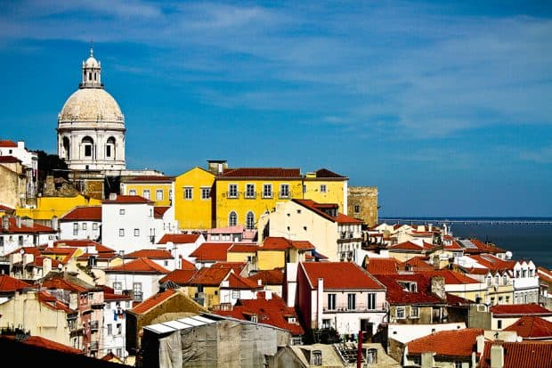 Colorful rooftops of Lisbon