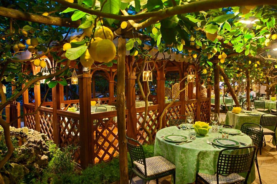 Dinning Area at Da Paolino, Capri, Italy