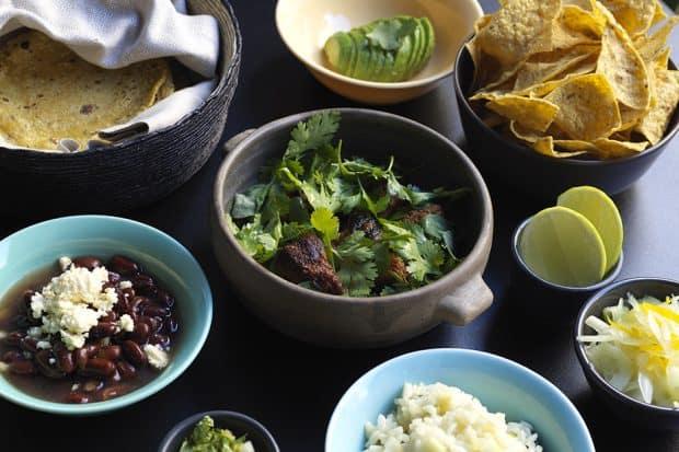 Family style dishes at Hija Sanchez (courtesy Jason Loucas)