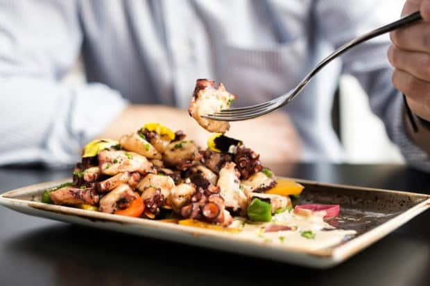 Octopus tapas in Andalusia, Southern Spain