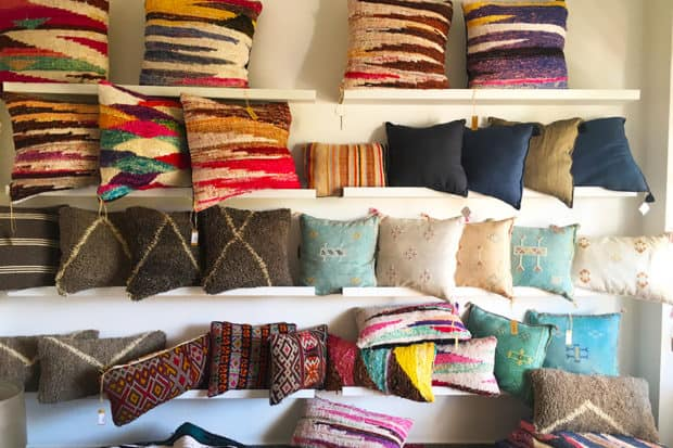 Pillows on display at Some store in Marrakech
