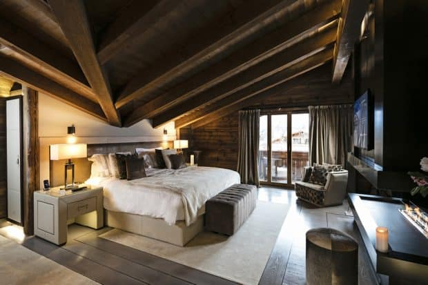 A suite at the Ultima Gstaad.