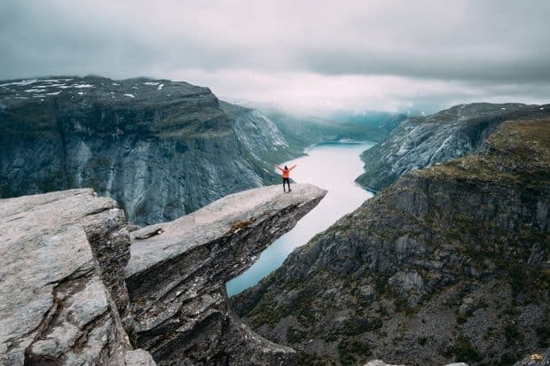 Whether you are an outdoors enthusiast or a foodie, solo travel allows you to focus on your interests (pictured above: the Norwegian Fjords)