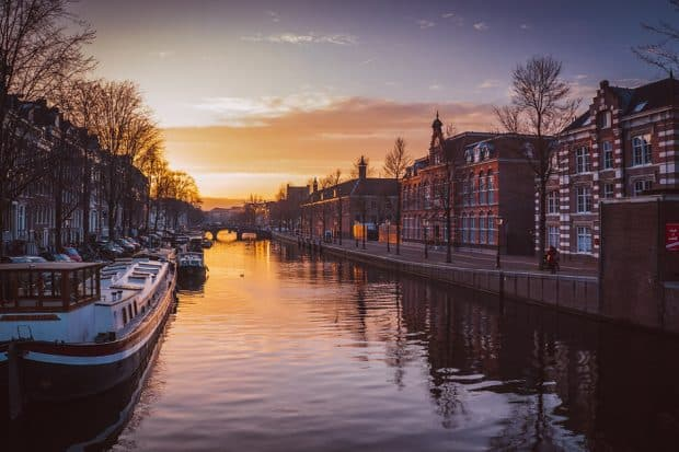 European cities like Amsterdam (above) are ideal for the first-time solo traveler