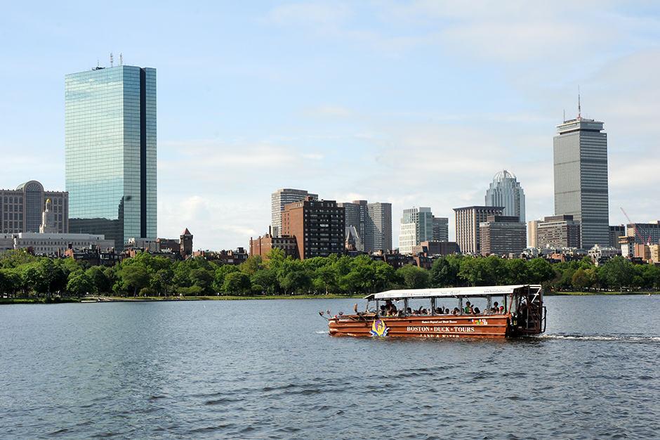 Aerial View - Boston Duck Tours, Boston, New England