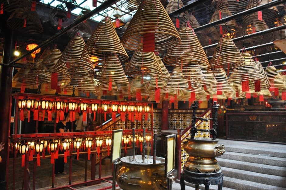 Interior Veiw at Man Mo Temple & Sheung Wan , Hong Kong, China , Photo by Elisa Rolle