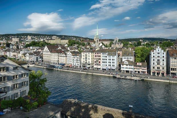 Aerial View-Lindenhof ,Zurich, Switzerland-Courtesy Ivo Scholz