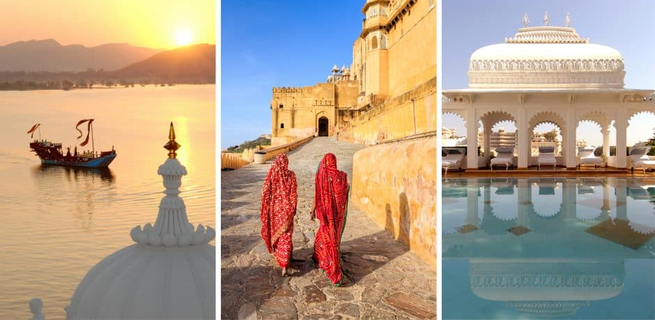 Right and Left: Taj Lake Palace