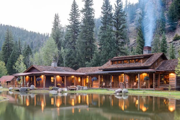 Taylor River Lodge sits right on the Taylor River, offering prime fly-fishing opportunities. Courtesy Taylor River Lodge.