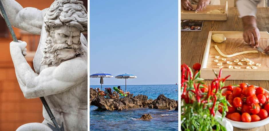 Center, La Fontelina; Right, Borgo Egnazia, courtesy Leading Hotels of the World