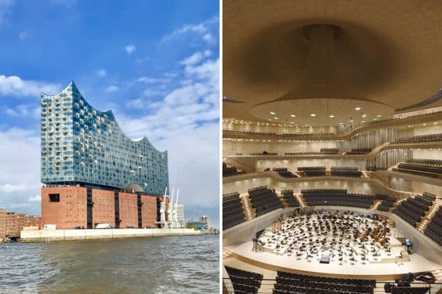 Elphilharmonie, Concert hall interior courtesy Michael Zapf