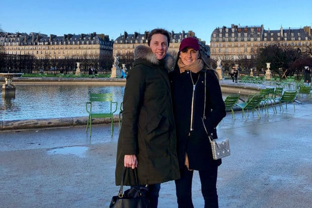 Emma and her mom in Paris