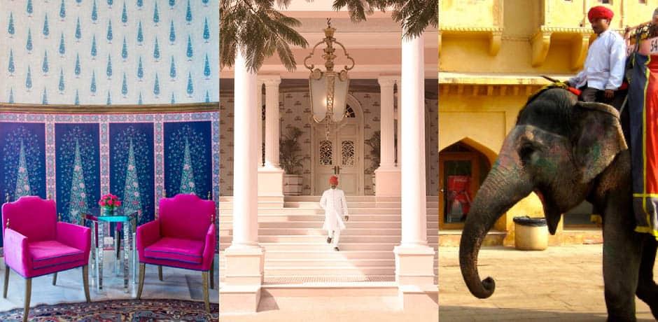 From left to right; Sujan Rajmahal Palace, Sujan Rajmahal Palace, Amber Fort
