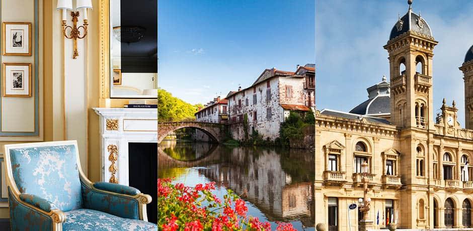 From Left: Ritz Paris, Biarritz, San Sebastian Courtesy Keyweek