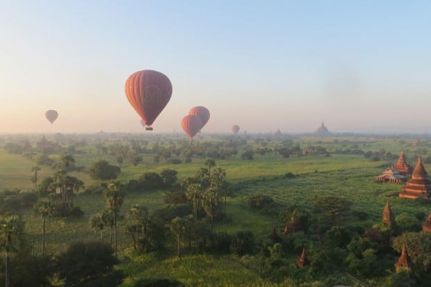 Ballooning over the temple fields of Bagan is a once-in-a-lifetime experience.