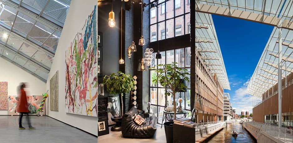 From left: Astrup Fearnley Museum, Milla Boutique, Astrup Fearnley Museum